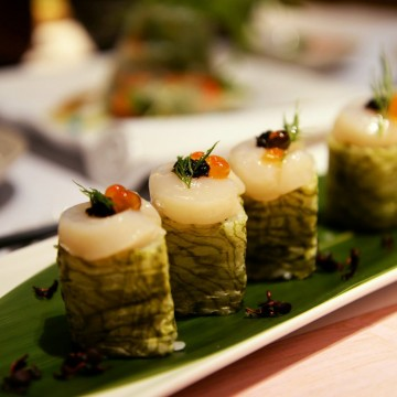 初雪卷 Snow Roll (Scallop with Black Truffle Roll)-12