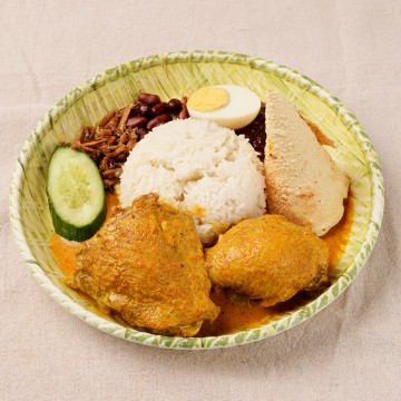 椰漿飯 配 甲必丹咖喱雞-s